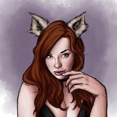 Catgirl Pinup