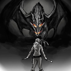 """Damselle in Distress"" illustration"