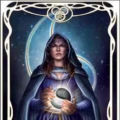High Priestess: Moiraine Tarrot Poster