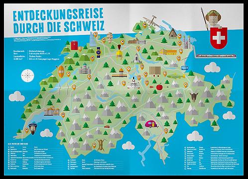 """Plakat """"Entdeckungsreise durch die Schweiz"""""""