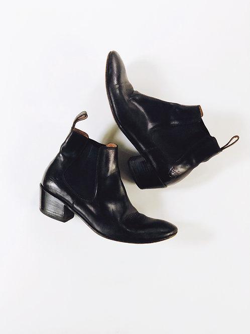 John Fluevog Black Chelsea Boots