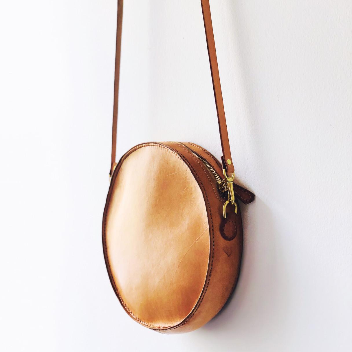 Natural Circle Bag (worn in)