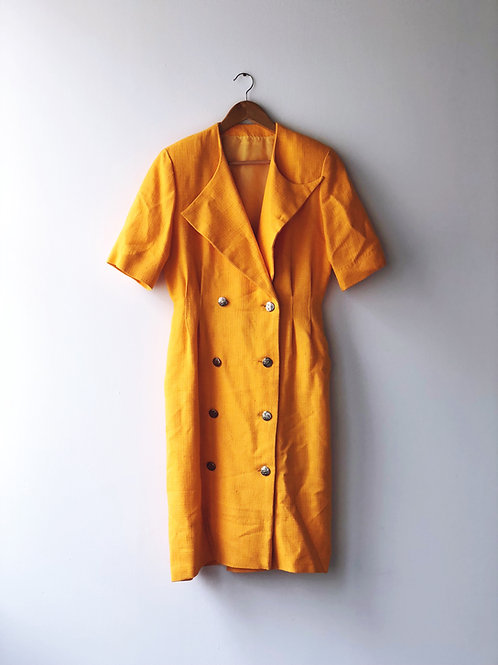 Vintage Mustard Dress