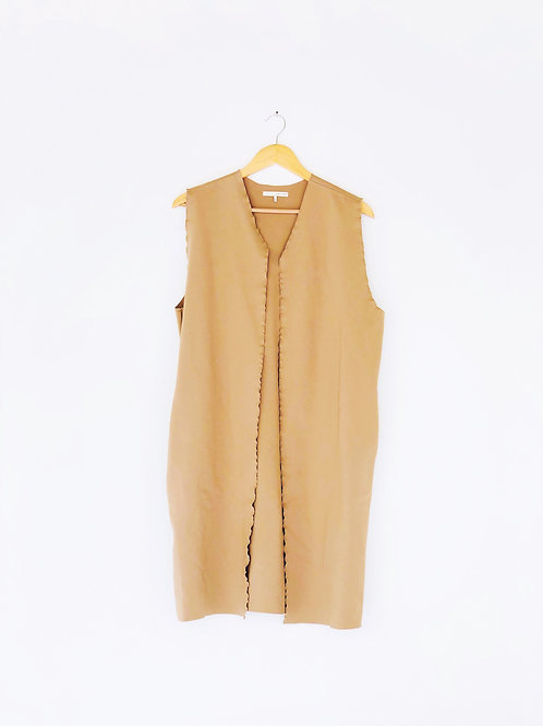 Oak + Fort Long Camel Vest