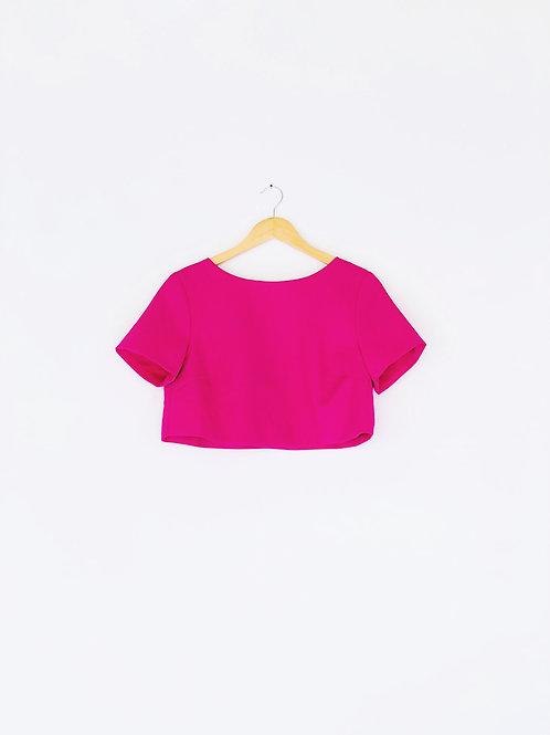 Rose Pink Crop Top