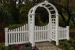 Arbor gate and wings