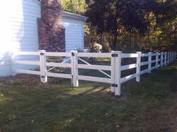 3 Rail PVC Post and Rail