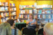 Author Penny Hodgson at the Owl's Nest Bookstore Booklaunch for Mind Files
