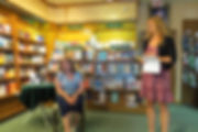 Author Penny Hodgson along with Sarah from The Owl's Nest Bookstore at the Mind Files booklaunch