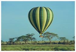 Balloon ride over Serengeti