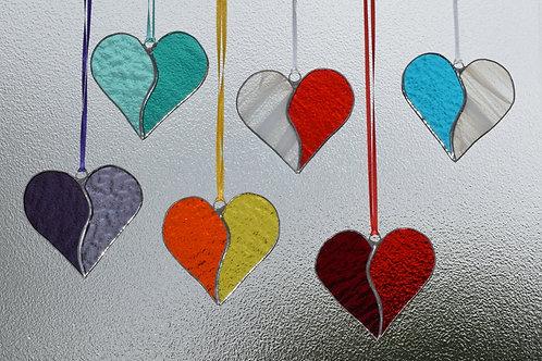 Bicoloured Hearts