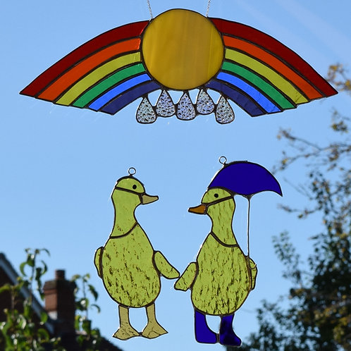 Duck and Rainbow card