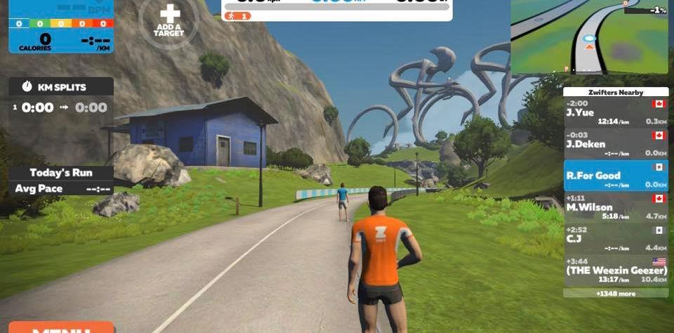 5. 呢個就係遊戲介面,當你跑嘅時候,你個人仔都會跟住你一齊跑。