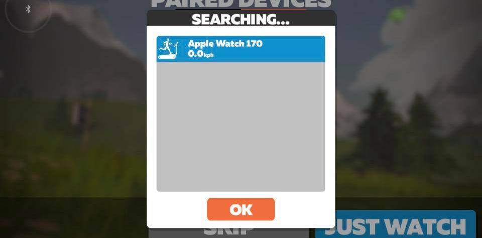 3. 由於小編係用Apple Watch進行配對,所以Zwift亦都顯示到小編隻 Apple Watch,配對之後㩒 OK。