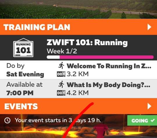 """6. 入到 """"Zwift Companion"""" 呢個app之後,㩒去左下角 """"Events""""..."""