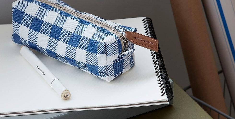 Estuche/Porta Esenciales  Cuadros Azul