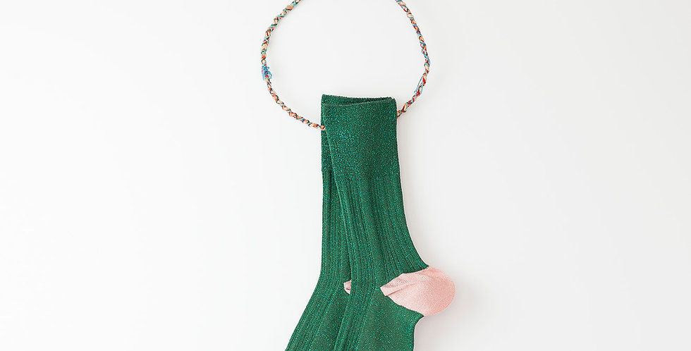 Calcetín Hop Glitter Verde