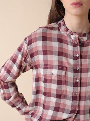Camisa Cuadros Burdeos
