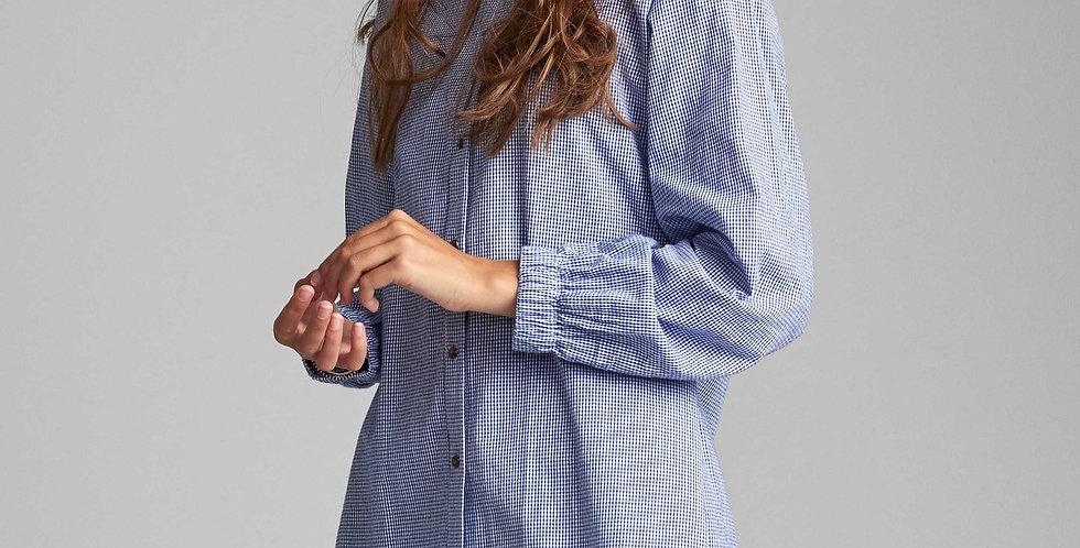 Blusa Cuello Mao Mini Vichy