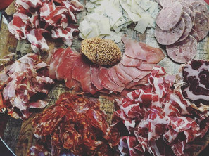 charcuterie with whole grain mustard