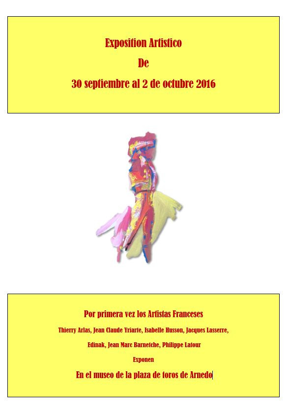 Exposition ARNEDO 30/09-02/10