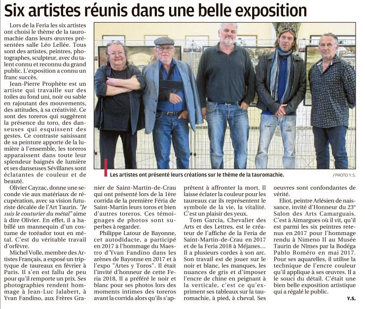 Retour sur 3 jours d'expo aux côtés d'artistes de talent (Tom Garcia/Olivier Cayzac/Eliot peintre/Jean-Pierre Prophète/Michel Volle)