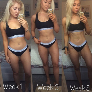 #mondaymotivation from @samantha.alexandra_ from her holiday transformation is just 5weeks!