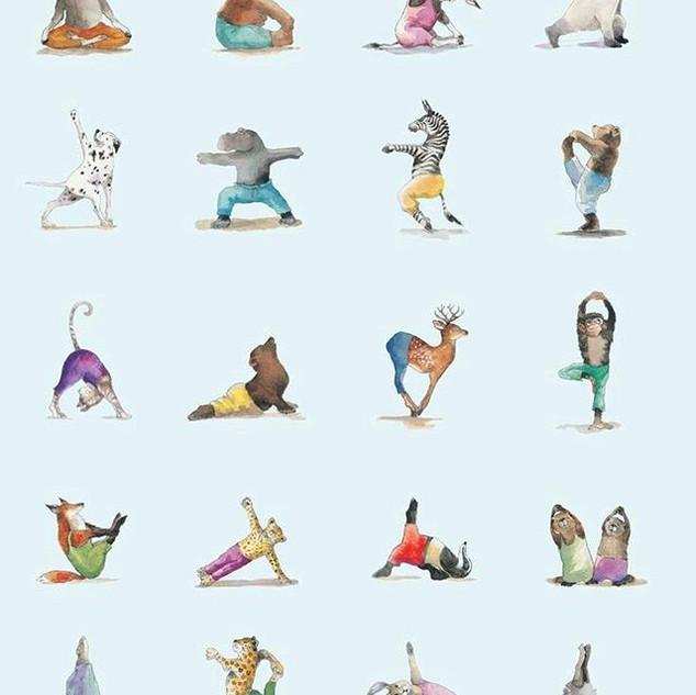 Primera clase de yoga niños y al princip