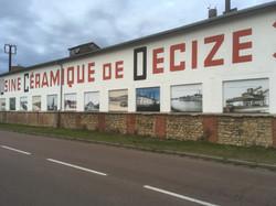 Habillage des fenêtres d'une ancienne usine - Decize