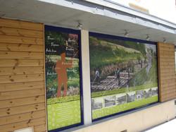 Habillage des vitres d'un office de tourisme - Clamecy
