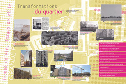 Panneaux d'informations pour une exposition de quartier