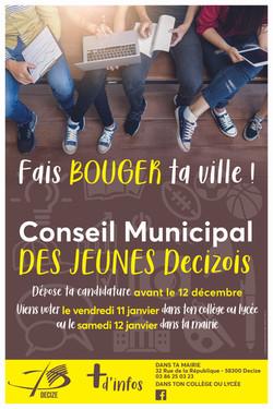 Affiche pour un Conseil municipal des Jeunes