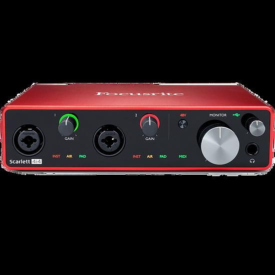 FOCUSRITE SCARLETT 4i4 MK3 - INTERFAZ DE AUDIO USB 3G
