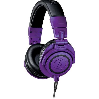 AUDIO-TECHNICA ATH-M50X (PÚRPURA Y NEGRO) - AUDIFONOS