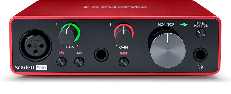 FOCUSRITE SCARLETT SOLO MK3 - INTERFAZ DE AUDIO USB 3G