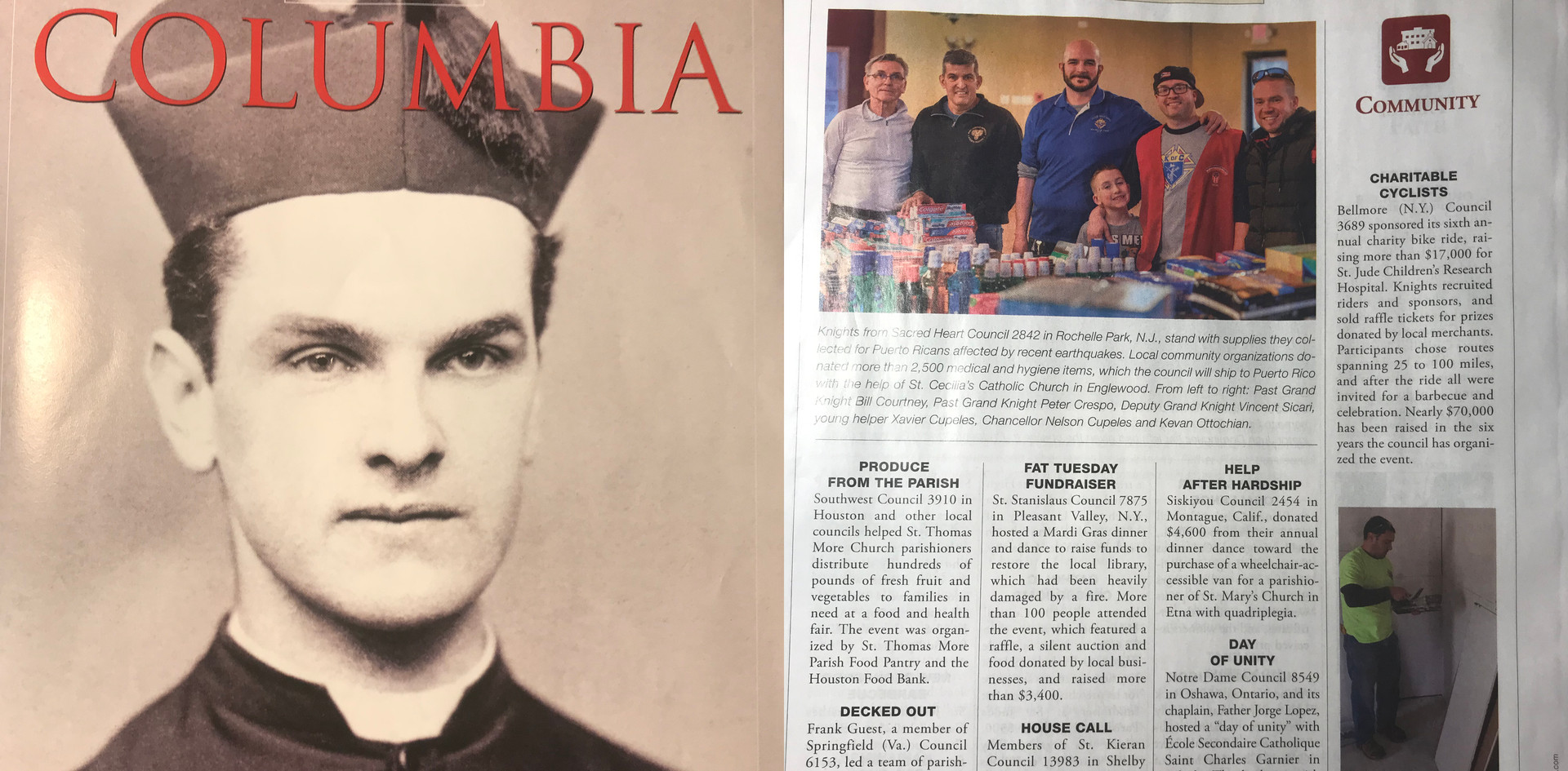 Council 2842 in Columbia Magazine, March 2020