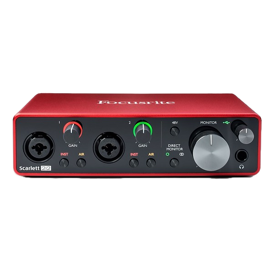 FOCUSRITE SCARLETT 2i2 MK3 - INTERFAZ DE AUDIO USB 3G