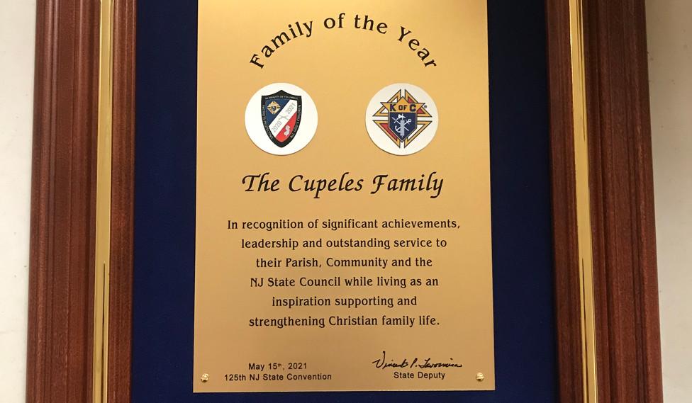 Family Of The Year Award 2021