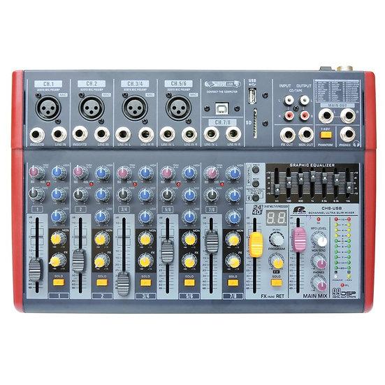 PRO AUDIO CH8 USB - CONSOLA CON INTERFAZ