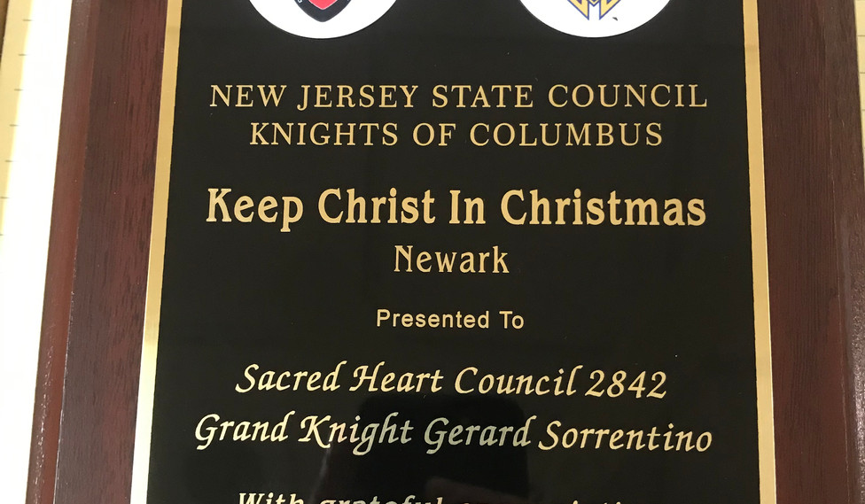 Keep Christ In Christmas Award