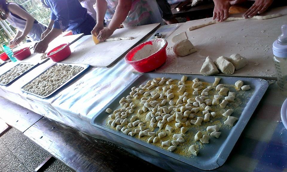 laboratorio gnocchi a Casa Masca