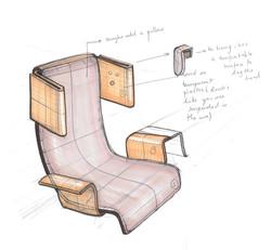 Train chair by Sofia Malato