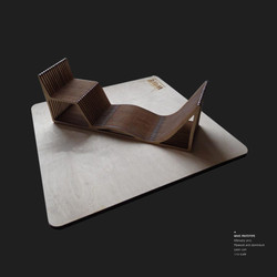 Wave outdoors seat by Sofia Malato