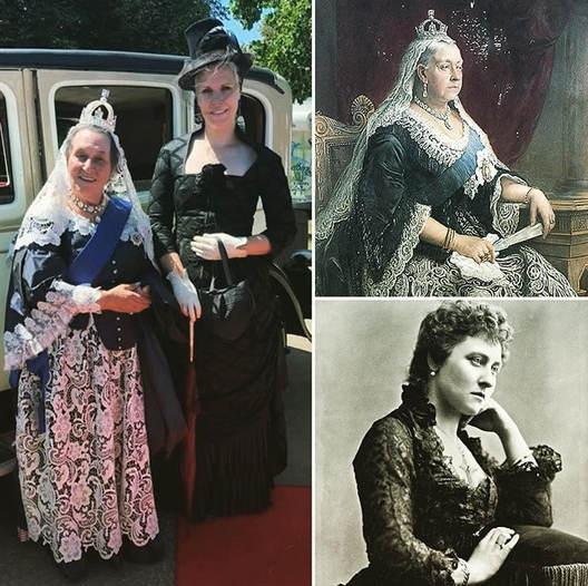 Live Auftritt Quenn Victoria und Tochter