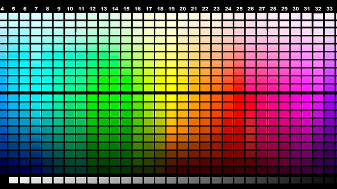 dtg color chart