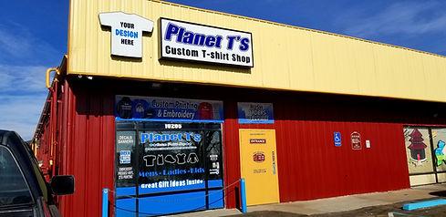 Planet T's Shop Outside