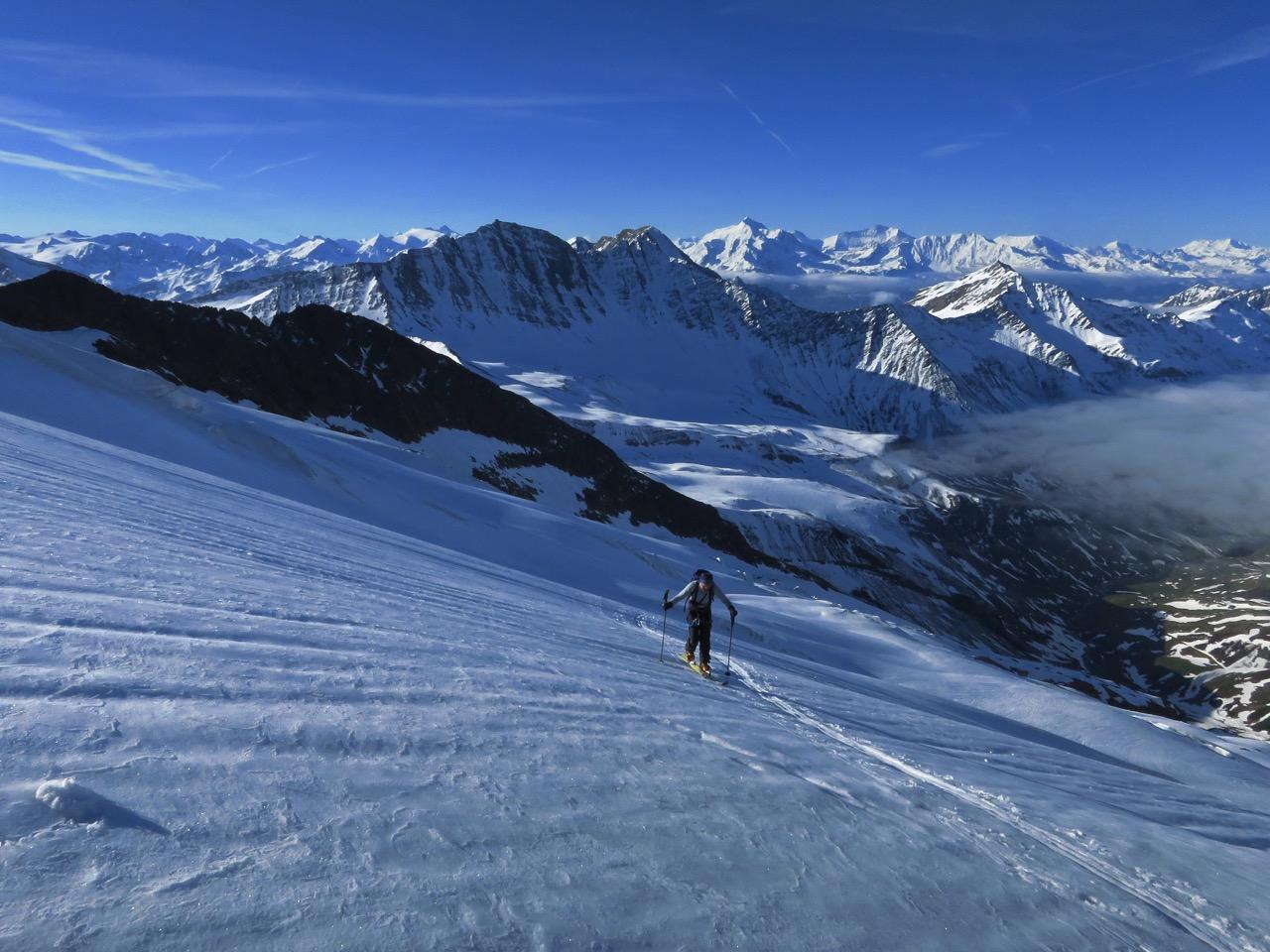 Vers l'aiguille des Glaciers