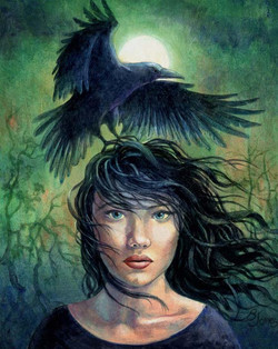Girl and crowR