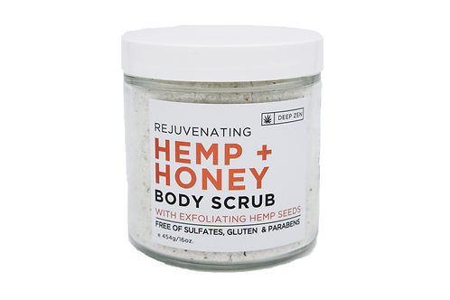 Deep Zen Hemp Honey Body Scrub