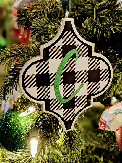 Personalized Christmas Ornaments - Kelly Green Holographic
